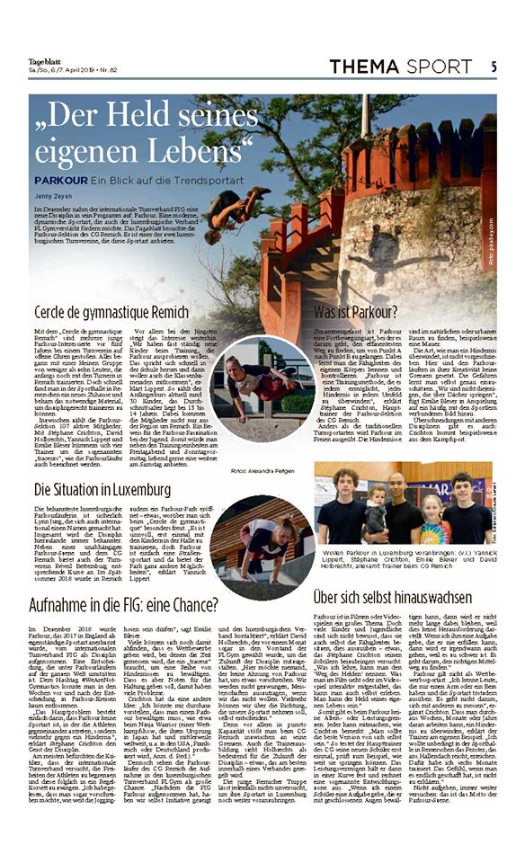 Tageblatt Parkour